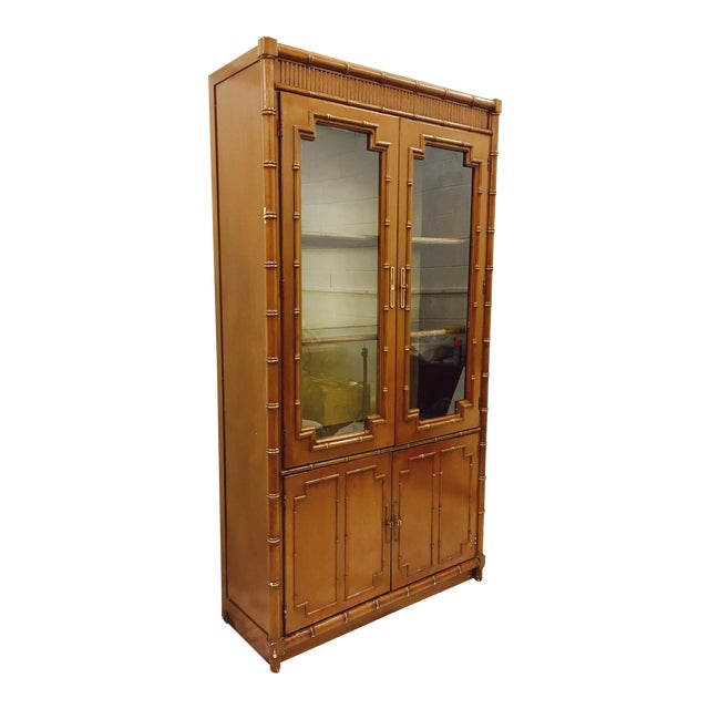 Vintage Chippendale Style China Cabinet - Image 1 of 10