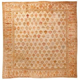Antique 19th Century Turkish Angora Oushak Carpet