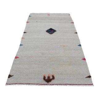 Vintage Tribal Flatweave Kilim Rug - 2′2″ × 3′7″ For Sale