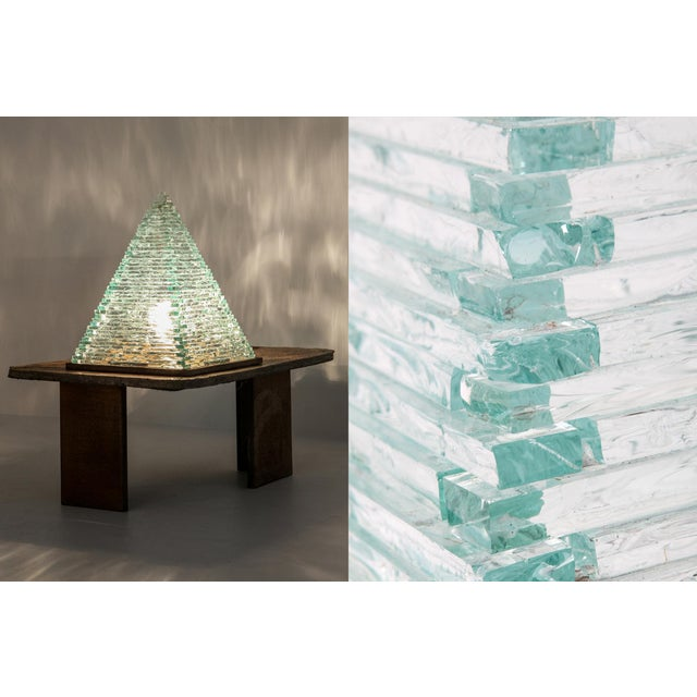 Pyramid Glass Lamps by Pia Manu For Sale - Image 9 of 10