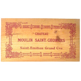 Vintage French Wine Box Panels, Set of 3 Preview
