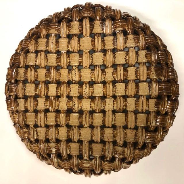 Phil Sellers River Hill Pottery Basket Weave Bowl or Platter For Sale - Image 11 of 13