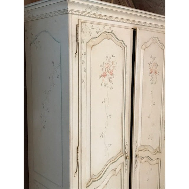 Ethan Allen Ethan Allen Painted French Country Armoire For Sale - Image 4 of 5