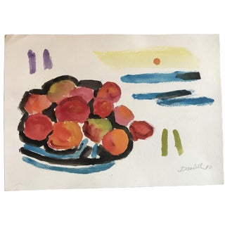 George Daniell Still Life With Abstracted Landscape For Sale