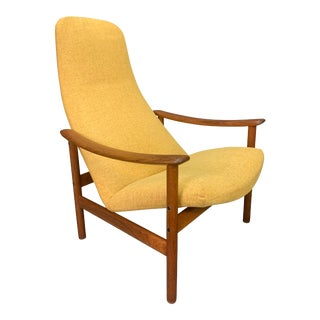 Vintage Scandinavian Mid Century Modern Teak Lounge Chair by Alf Svensson For Sale