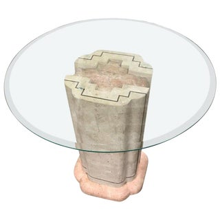Maitland Smith Tesselated Marble Pedestal For Sale