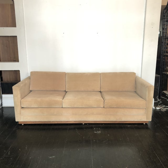 1960s Mueller Widdicomb Plinth Base Sofa For Sale - Image 13 of 13