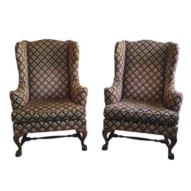 Baker Wingback Chairs - A Pair For Sale