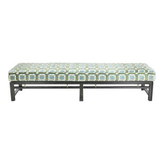 Edward Wormley for Dunbar Mid Century Modern Bench Newly Upholstered For Sale