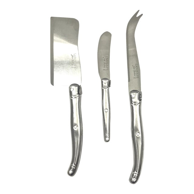 French Jean Dubost Laguiole Cheese Set - Set of 3 For Sale