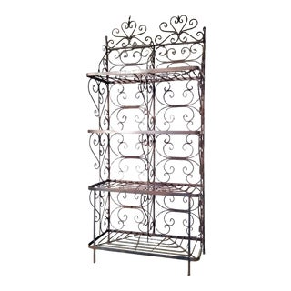 Antique Wrought Iron Baker's Rack / Etagere For Sale