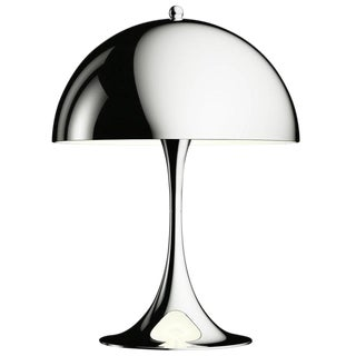 Verner Panton 'Panthella Mini' Table Lamp in Chrome for Louis Poulsen For Sale
