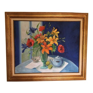 Vintage Mid-Century R. Noffsinger Still Life Signed Painting For Sale