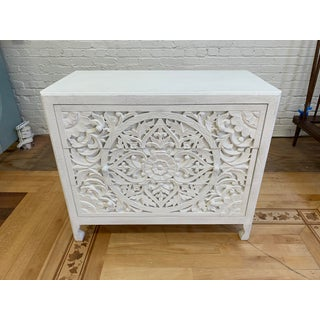 Anthropologie Lombark Three Drawer White Wash Dresser Preview
