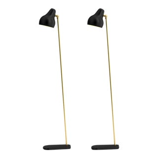 Vilhelm Lauritzen Black 'Radiohus' Floor Lamps for Louis Poulsen