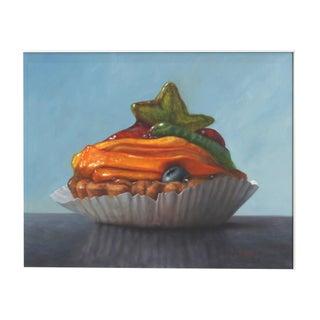 "Stuart Dunkel ""Peach Tart"" Original Modern Painting For Sale"