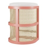 Image of Isabella Counter Stool - Coral Gables, Optic White Linen For Sale