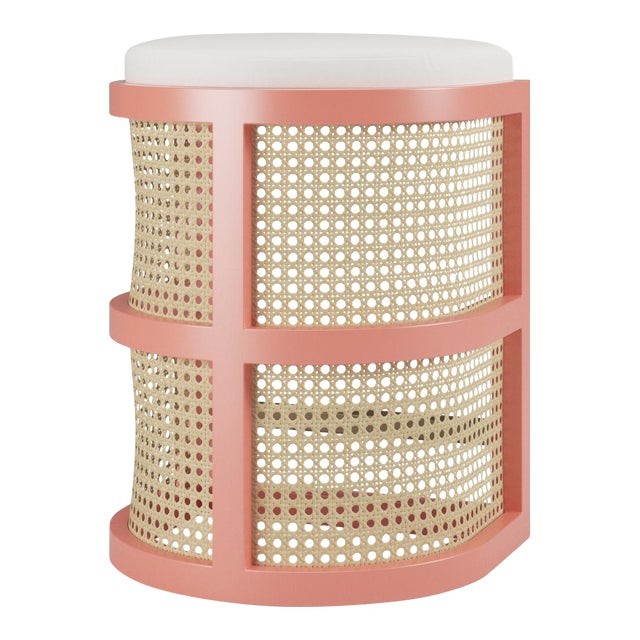 Isabella Counter Stool - Coral Gables, Optic White Linen For Sale