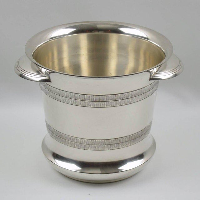 French Art Deco Modernist Silver Plate Champagne Bucket, Wine Cooler - Image 2 of 7