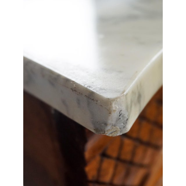 1900s French Wall Mounted Marble Console Table For Sale - Image 9 of 10