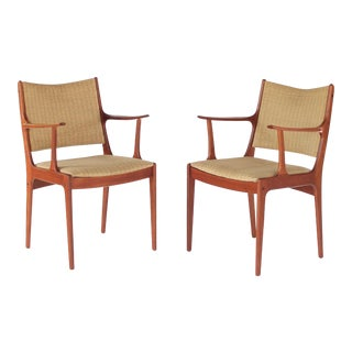 Mid Century Danish Modern Johannes Andersen for Uldum Møbelfabrik Dining Chairs- A Pair For Sale