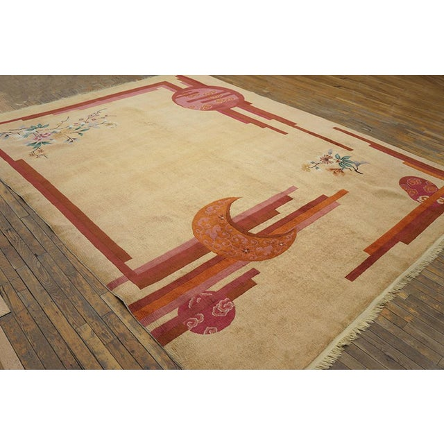 """Chinese Rustic Deco Rug - 8'3""""x10'10"""" For Sale - Image 4 of 7"""