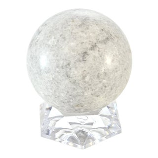 Natural Gray Granite Sphere
