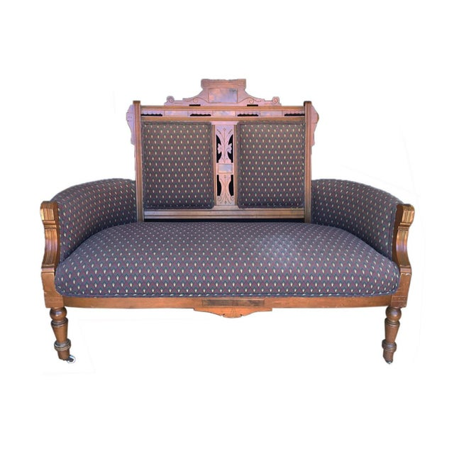 Vintage Victorian Inspired Settee For Sale