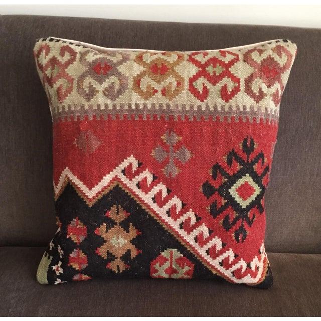 Pottery Barn Kilim Pillow - Image 2 of 7