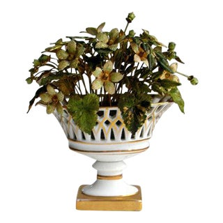 Jane Hutcheson for Gorham French Style Porcelain Flower Arrangement For Sale