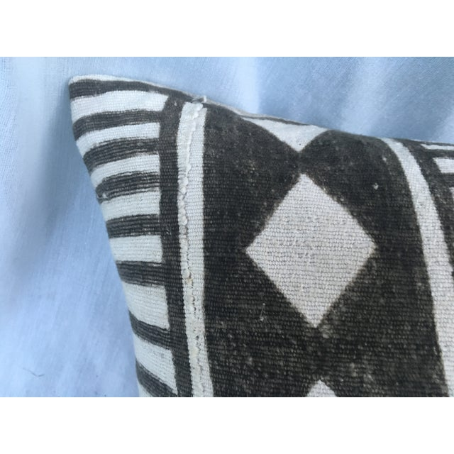 African Tribal Mud Cloth Pillow - Image 3 of 7