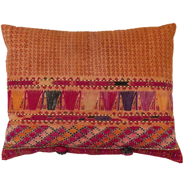 Mid 20th Century Afghani Pashtun Textile Pillow For Sale - Image 5 of 5