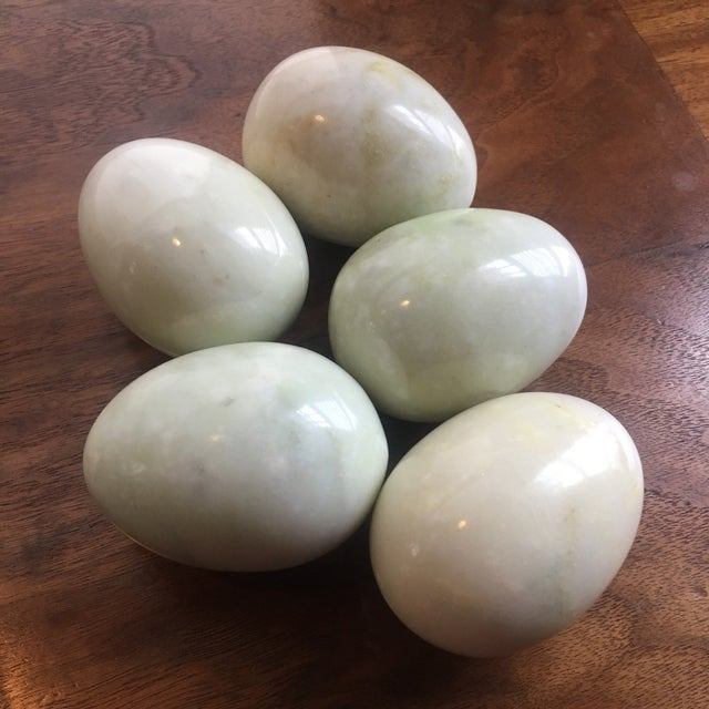 Late 20th Century Large Marble Eggs - Set of 5 For Sale - Image 5 of 5