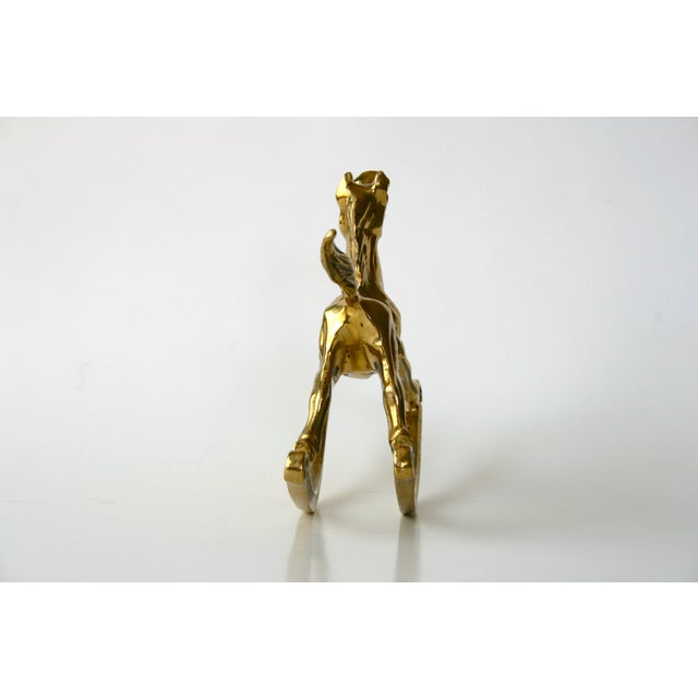 Mid-Century Modern 1960s Mid-Century Modern Brass Rocking Horse Figurine For Sale - Image 3 of 10