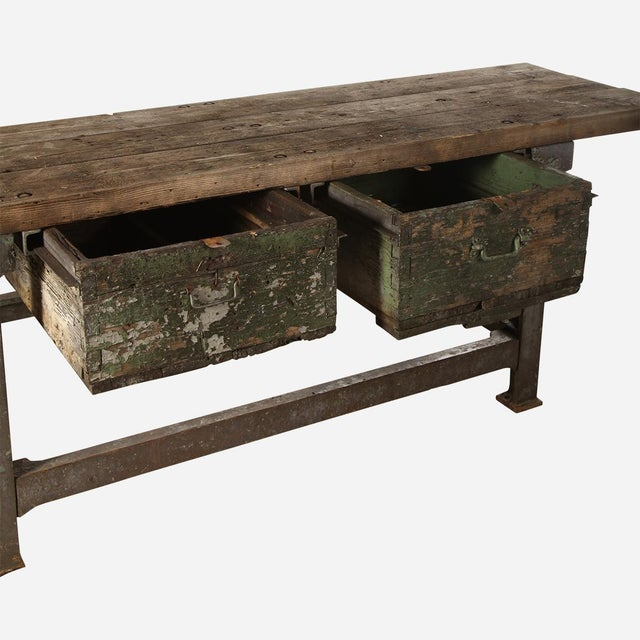 Industrial Work/Writing Table For Sale - Image 4 of 6