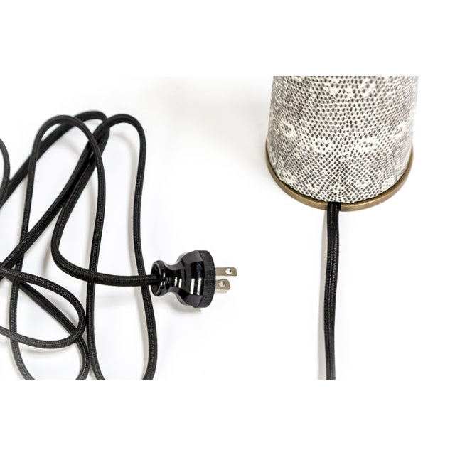 Lizard Skin & Bronze Borrego Lamp by Tuell + Reynolds For Sale In San Francisco - Image 6 of 7