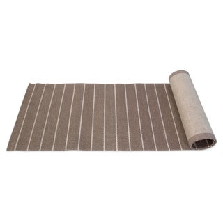 Striped Sisal Runner - 2′6″ × 9′
