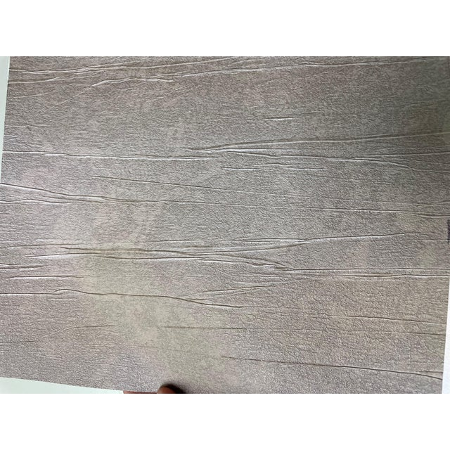 2010s Brushed Taupe Wallcovering For Sale - Image 5 of 5