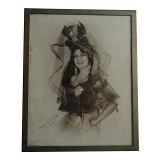 1931 Framed Photograph of Spanish Singer