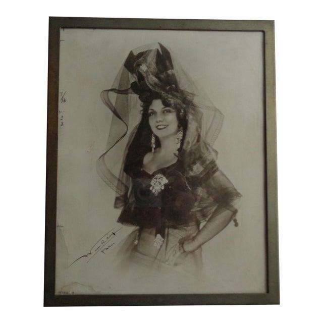 1931 Framed Photograph of Spanish Singer Conchita Supervia For Sale