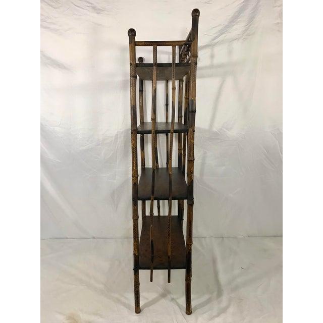 English 19th Century Bamboo Bookshelf For Sale - Image 3 of 7