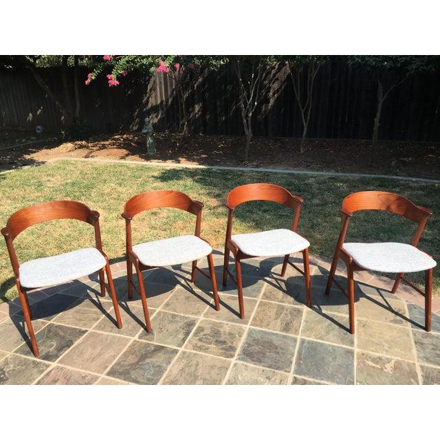 1960s Danish Modern Teak Dining Chairs by Kai Kristiansen for Korup Stolefabrik - Image 6 of 10