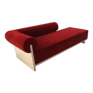 Modern Velvet Chaise Sofa
