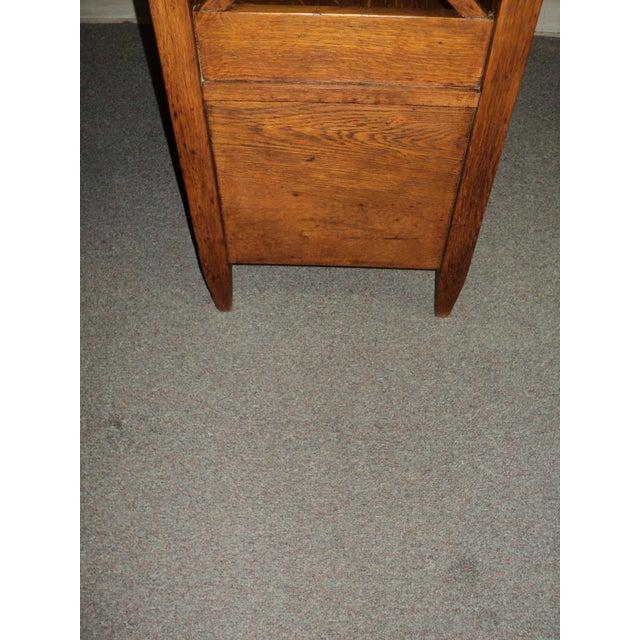 Antique Arts & Crafts Mission Oak Hall Storage Bench For Sale - Image 5 of 9