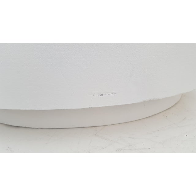 Plaster Sculptural Plaster Round Coffee Table For Sale - Image 7 of 11