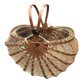 Vintage Japanese Collapsible Basket For Sale