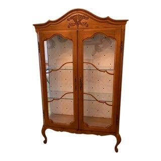 1930s Hollywood Regency Oak Cupboard For Sale