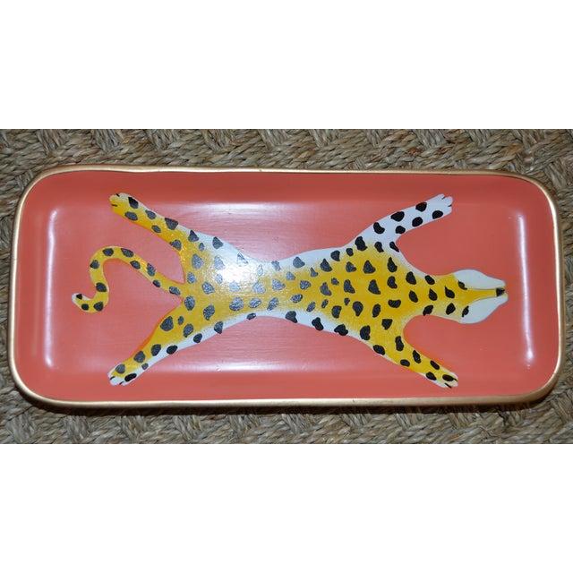 Orange Ceramic Leopard Trinket Tray - Image 3 of 5