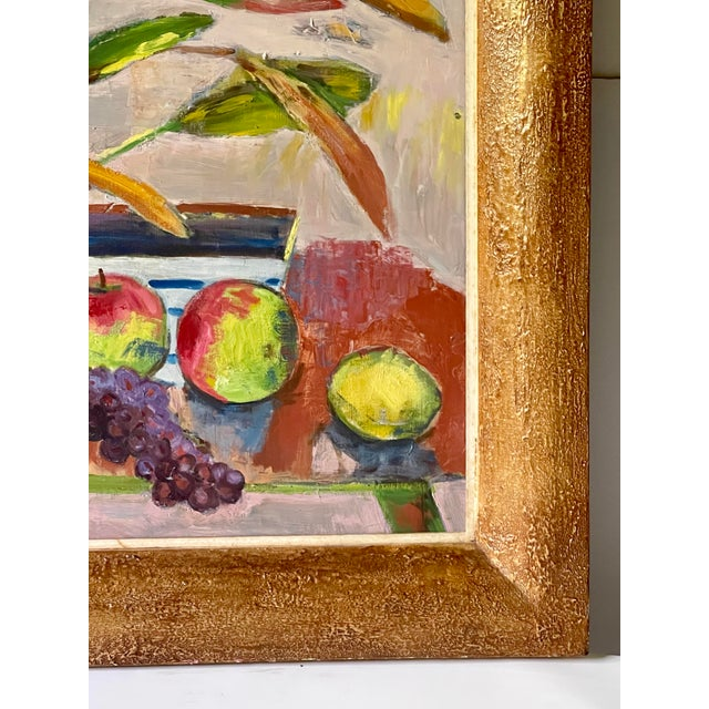 Mid 20th Century Midcentury Botanical Still Life Painting For Sale - Image 5 of 12