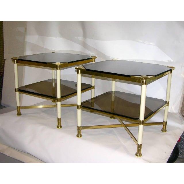Rare pair of sophisticated Italian design end tables by Vivai del Sud - Architettura ed Alta Decorazione, an Italian...